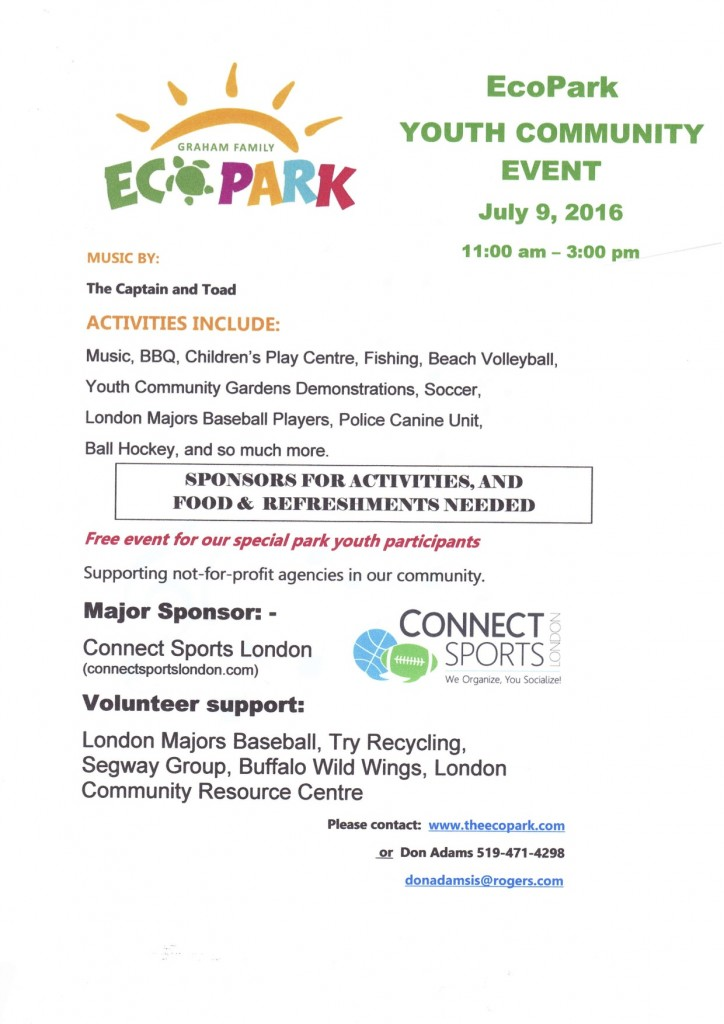 ECOPARK YOUTH EVENT POSTER pdf -  MAR 8 2016